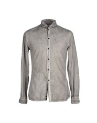 Paolo Pecora Shirts Shirts Men Grey