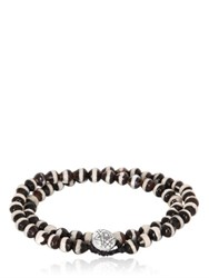Luis Morais Double Wrap Mantra Beaded Bracelet
