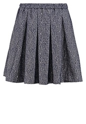 Bzr Circe Pleated Skirt Blue Dark Blue