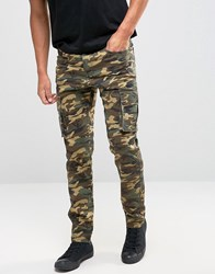 Liquor And Poker Cargo Trouser Brown Camo Brown