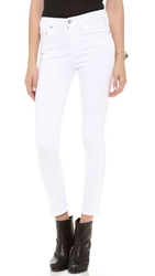 Citizens Of Humanity Crop Rocket High Rise Skinny Jeans Optic White