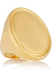 Arme De L'amour Oval Signet Gold Plated Ring