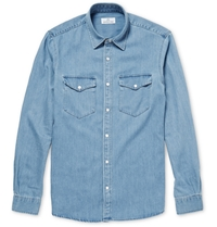 Hentsch Man Benny Washed Denim Shirt Blue