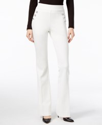 Inc International Concepts Curvy Flare Leg Trousers Only At Macy's Washed White