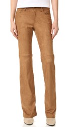 Ella Moss Connelly Faux Suede Pants Cognac