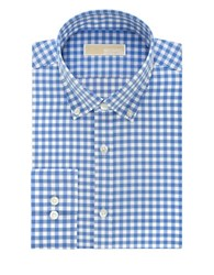 Michael Michael Kors Gingham Long Sleeve Button Down Shirt Blue Crystal