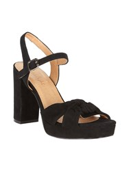 Phase Eight Jennie Leather Platform Sandals Black