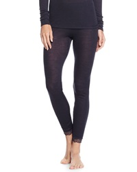 Hanro Woolen Silk Lace Leggings Midnight