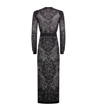Balmain Lace Knit Long Cardigan Female Black