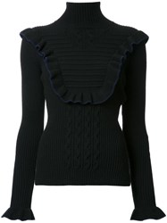 Fendi Frill Trim Jumper Black