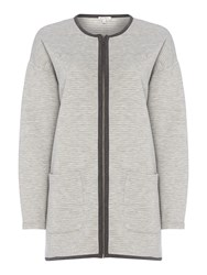 Part Two Jersey Coat Cardi Grey