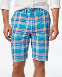 Tommy Hilfiger Men's Big And Tall Haaz Madras Classic Fit Plaid Shorts Blithe