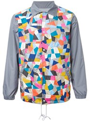 Anrealage 'Patchwork Coach' Jacket Grey