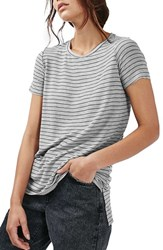 Topshop Women's Side Split Stripe Tee