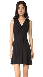 Rebecca Taylor Sleeveless Diamond Textured Dress Black