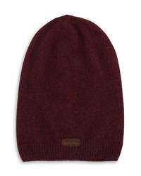 True Religion Ribbed Slouchy Beanie Hat Vintage Oxblood