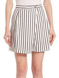Mcq By Alexander Mcqueen Pinstriped Crossover Shorts Black White