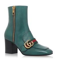 Gucci Peyton Ankle Boots 75 Female Green