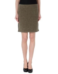 Ralph Lauren Black Label Knee Length Skirts Military Green
