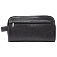 John Lewis Katta Aniline Leather Wash Bag Black