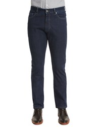 Ermenegildo Zegna Five Pocket Stretch Cotton Denim Jeans Medium Indigo Mdindi