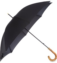 Fulton Commissioner Wooden Crook Umbrella Black