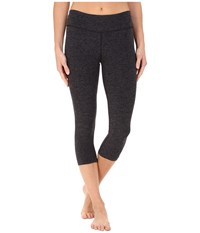 Beyond Yoga Capri Leggings Black Steel Spacedye Women's Capri