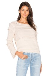 Lucy Paris Mandy Bell Sleeve Top Beige