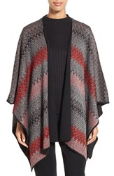 Ming Wang Women's Reversible Knit Poncho Jacket