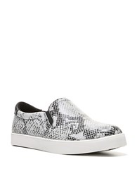 Dr. Scholl's Original Scout Snake Printed Leather Sneakers Black