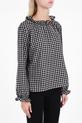 Mih Jeans Sandy High Neck Top Blk White