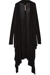 Rick Owens Draped Wool Cardigan Black