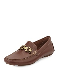 Donald J Pliner Veba Leather Driver Mocassin Brown