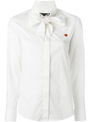 Love Moschino Heart Detail Foulard Shirt White