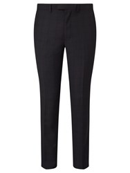 John Lewis Kin By Franklin Tonal Check Slim Fit Suit Trousers Charcoal