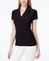 Charter Club Short Sleeve Crossover Wrap Top Only At Macy's