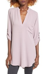 Lush Women's 'Perfect' Roll Tab Sleeve Tunic Quail