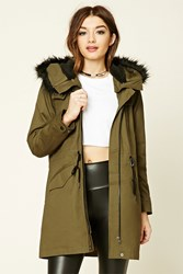 Forever 21 Faux Fur Hooded Parka