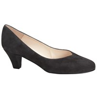 John Lewis Ash Block Heeled Court Shoes Grey