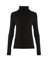 Chloe Roll Neck Cashmere Sweater Black