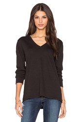 Lanston Cut Out Back Long Sleeve Top Gray