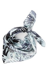 Vince Camuto Women's 'Palm Springs' Silk Square Scarf Grey Sconce