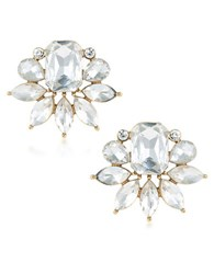 Trina Turk Cabaret Stone Cluster Button Earrings Gold