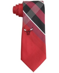 Eagles Wings Chicago Bulls Woven Grid Tie Gray Oldlace Red