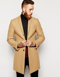 Noose And Monkey Wool Overcoat Camel