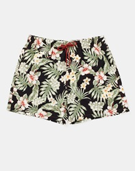 The Idle Man Swimming Trunks In Tropical Print