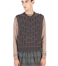 Ermenegildo Zegna Knitted Vest Brown