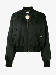 Givenchy Classic Bomber Jacket Black Grey Denim Leopard