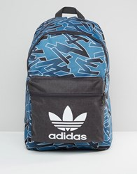 Adidas Originals Shattered Stripe Drawsting Backpack Az3256 Blue