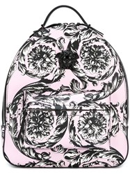 Versace 'Baroque Medusa' Backpack Pink And Purple